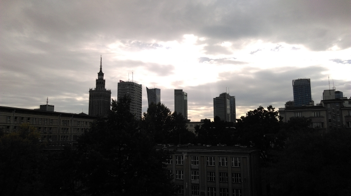 the view of Warsaw Downtown from 11 Mazowiecka Str.
